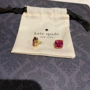 Kate Spade large stud glitter earrings